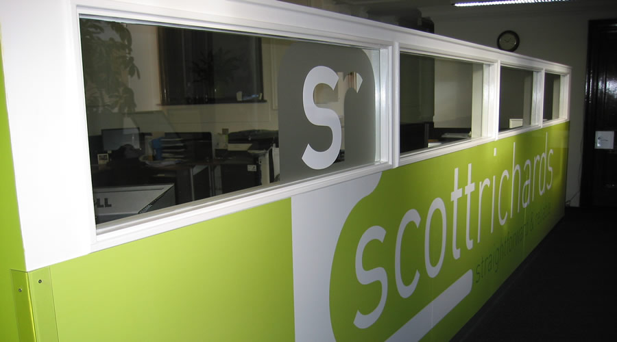 Scott Richards Solicitors partition.