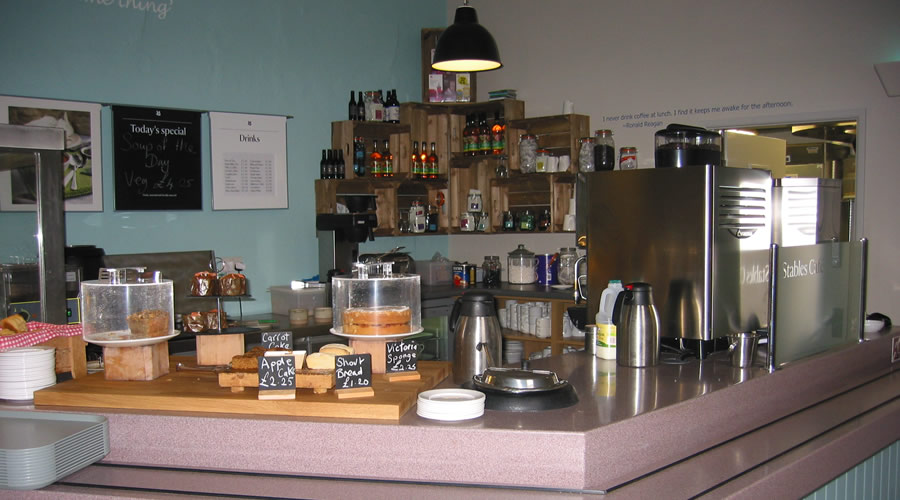 Killerton cafe shop counter area.