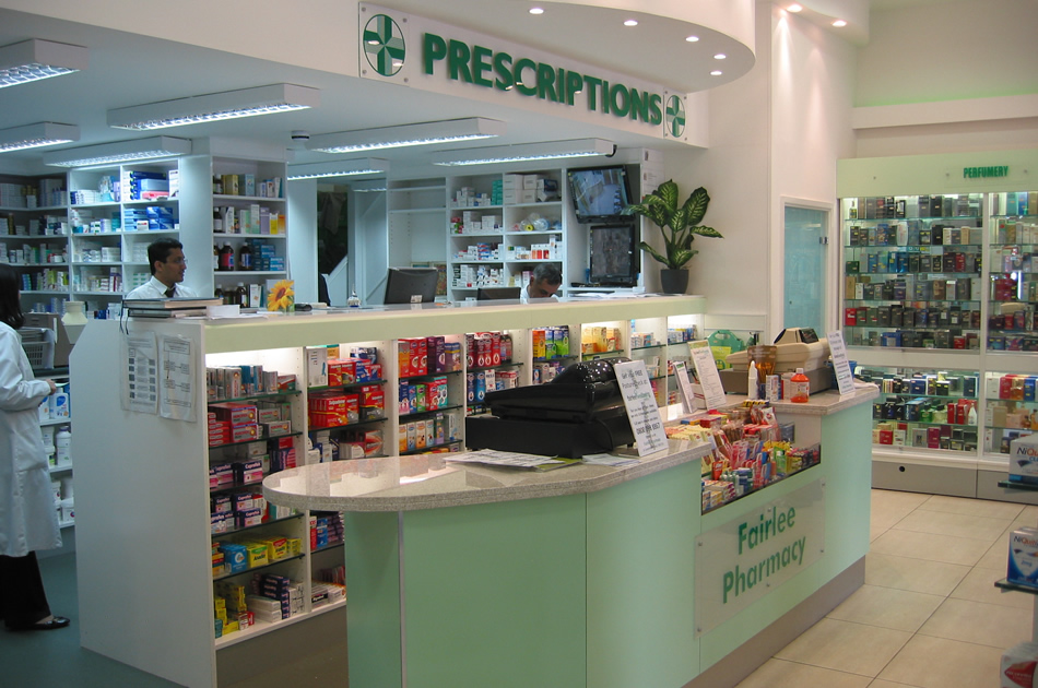Counter Area For Prescriptions